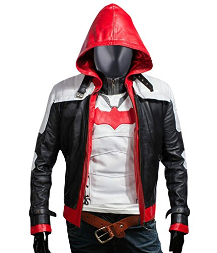 F&H Men's Jason Todd Arkham Knight Batman Hooded Jacket