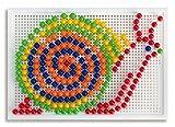 Quercetti - 784136 - Loisirs Créatifs -Jeu De Mosaïques De 270 Clous