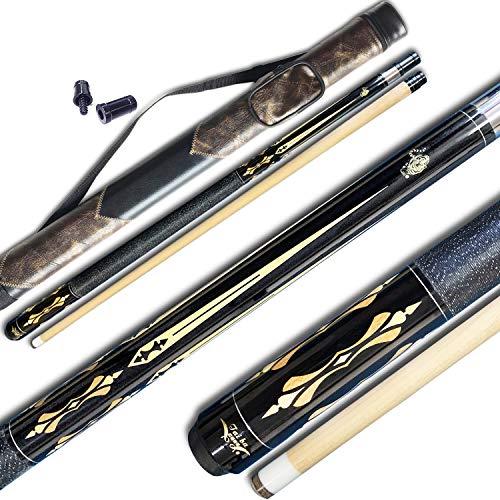 TaiBA 2-Piece Pool Stick + Hard Case, 13mm Tip, 58
