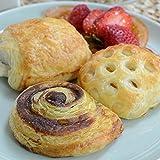 Cinnamon Roll, Apple Pocket, Pain Au Chocolat Mini Pastries - 1.25 Oz, Unbaked - 30 Count (10 of Each)
