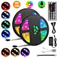 Led Strip Lights 32.8ft,IP65 Waterproof Flexible LED Light Strip,300 LEDs SMD 5050 Color Changing with 44 Keys IR Remote Controller and 12V Power Supply for Home Kitchen Festival Decoration