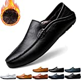 Jusefu Penny Loafers Mens Moccasin Driving Shoes Slip On Flats Leather Casual Dress