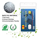 6 Pcs Extra Thick ID Card Badge Holder, Vertical