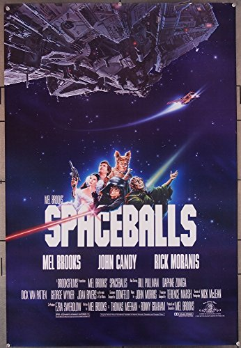 Spaceballs (1987) Original One Sheet Poster (27×40) JOHN CANDY BILL PULLMAN DICK VAN PATTEN JOAN RIVERS JOHN HURT Film directed by MEL BROOKS GOOD PLUS CONDITION ONLY