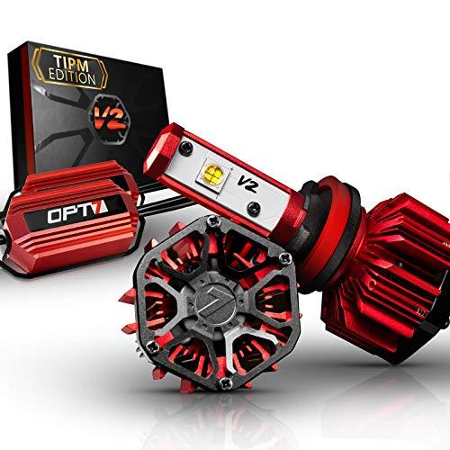 OPT7 FluxBeam H11 LED Headlight Kit w/Clear ARC-Lens Beam Bulbs & TIPM Resistor Kit - 60w 7,000Lm 6K Cool White CREE– for Dodge, Ram, Jeep, Chrysler