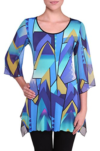 Plus Bell Sleeve Tunic StainedGlass 2X ()