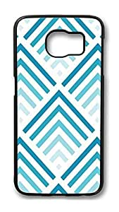 Brian114 Case, S6 Case, Samsung Galaxy S6 Case Cover, Blue Stripes Retro Protective Hard PC Back Case for S6 ( Black ) by kobestar