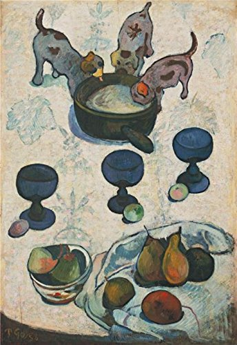 Oil Painting 'Paul Gauguin-Still Life With Three Puppies,1888' Printing On Perfect Effect Canvas , 8x12 Inch / 20x29 Cm ,the Best Gift For Bf And Gf And Home Decor And Gifts Is This Vivid Art Decorative Canvas Prints