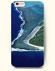 iPhone 6 Case 4.7 Inches Sea and Beach - Hard Back Plastic Phone Cover OOFIT Authentic wangjiang maoyi