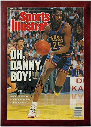 Danny Manning Sports Illustrated Autograph Replica Super Print - Oh Danny Boy - Kansas Jayhawks - 4/11/1988 - Framed
