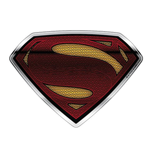 Fan Emblems Superman Logo Car Decal Domed/Multicolor/Chrome Finish, DC Comics Batman v Superman: Dawn of Justice BvS Automotive Emblem Sticker Applies Easily to Cars, Motorcycles, Laptops, Cellphones (Superman Decal)