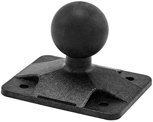 ARKON 4 Hole AMPS to 25mm Rubber Ball Adapter for Robust Mount Series - Black - APAMPS25MM