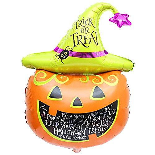 LOVELYIVA NEW Halloween Balloons pumpkin head Decorative Foil Balloons (Skeleton Hoodie Teen Costume)