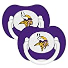 NFL Football 2014 Baby Infant Pacifier 2-Pack - Pick Team (Minnesota Vikings - Solid)