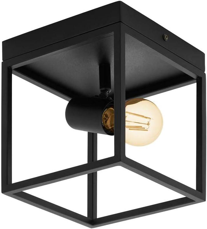 20,5 cm 18 cm l Plafonnier SILENTINA noir L 18 cm H