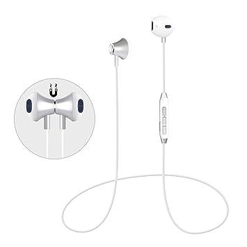 Auriculares Bluetooth Magnéticos Cascos Bluetooth Inalámbricos Auriculares Deportivos con Microfono Incorporado, Cancelación de Ruido,