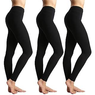 ZOOSIXX High Waisted Leggings for Women-Tummy Control and Elastic Opaque Slim Yoga Pants