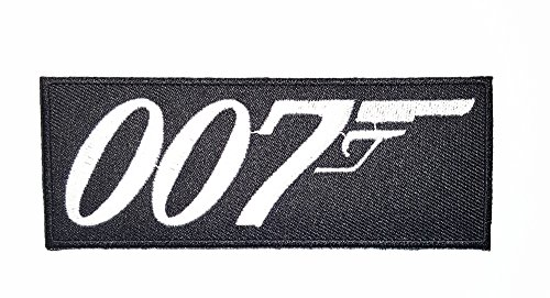 007 James Bond Moive Band Logo patch Rock Heavy Metal Punk Music Band Logo Patch Sew Iron on Embroidered Badge Sign Costume (Les Costumes De James Bond)