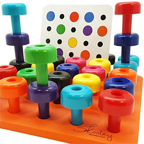 Fine Motor Toys : Peg board set with pattern card by skoolzy fine motor