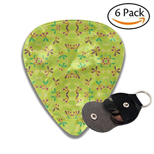JSYAGSJ JAPSJS Cherries & Dots On Chartreuse Medium Fabric (3474) Guitar Plucking Folk GuiTar It Sweeps The String Of The Anti-skid Electric Guitar Pick