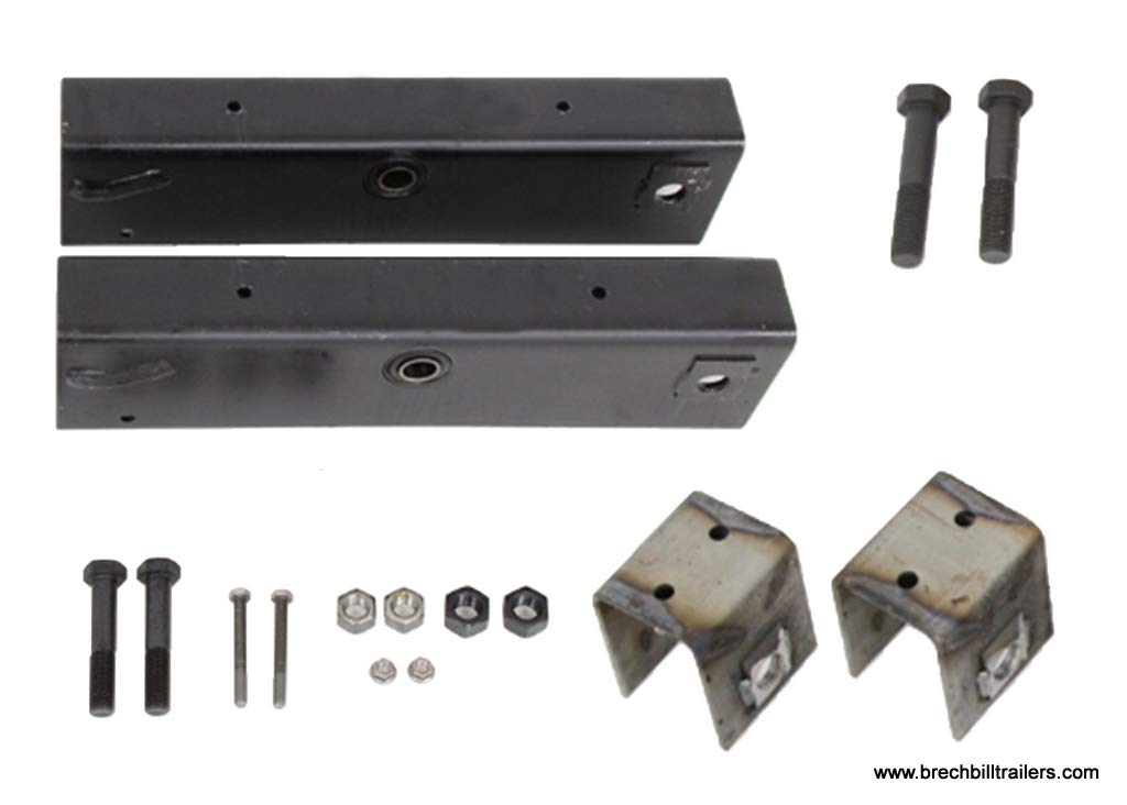 Spring Hanger Kit for 10-15K Dexter Axle 42.25'' Spacing 18.5'' Equalizer (HAP-203-02) by GENUINE DEXTER