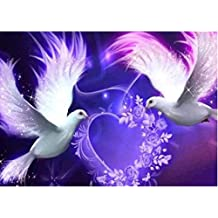 DIY 5D Diamond Painting Drill Crystal Rhinestone Embroidery Pictures Arts Craft for Home Wall Decor Gift ( Dove)