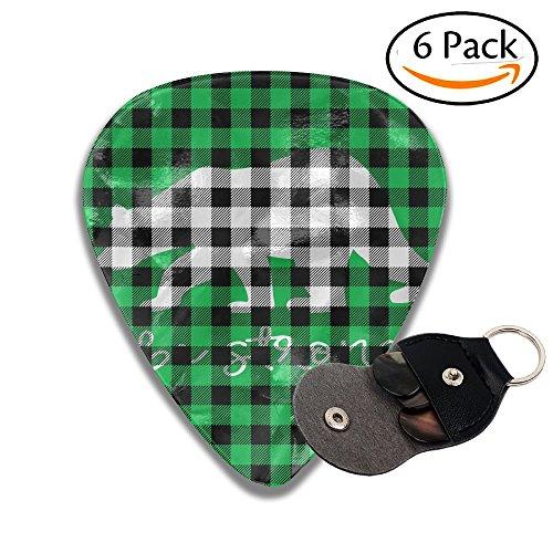 Libra Black Pink Plaid Bear Buffalo Acoustic Electric Thin Heavy Medium Gauge Guitar Picks Boys 6 Packs Cigar Box Guitar