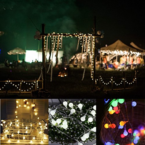 Feature 3 Feet Sheer Curtain (Lights & Lighting - Battery Powered Round Shaped Fairy String Light Patio Christmas Wedding Dc4 5v - Guided Faerie Thread Illumination Conducted Faery Strand Illuminate - 1PCs)