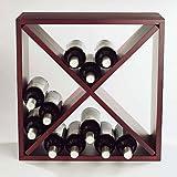 Wine Enthusiast 24 Bottle Compact Cellar Cube Wine Rack (Mahogany),