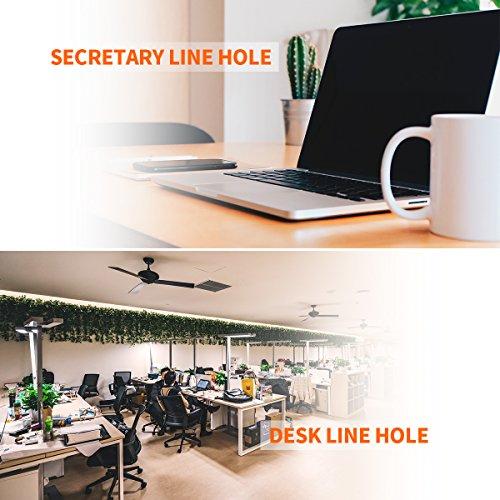 Desk Grommet 2 Inch, Plastic Desk Cord Cable Hole Cover Grommet - 10 Pack, Black
