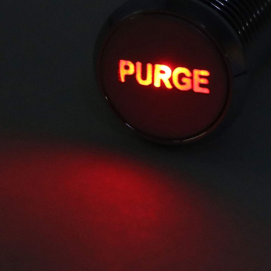 Purge uxcell Signal Indicator Light DC 12V 8mm Red LED Metal Shell with Symbol