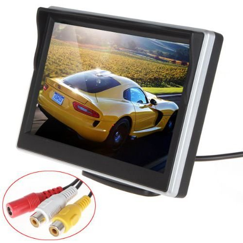 5 Inch HD (800480RGB) TFT LCD Digital Car Rear View Monitor 2 Video Input Vehicle Headrest Rearview Monitor for VCD / DVD / GPS / Car Reverse Camera by KASIONVI