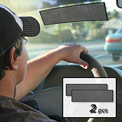 VaygWay Car Window Sun Shade - Static Cling-on Sun Block – Car Window Shade for Baby – Reusable Universal Sticker Static Shade – Black Windshield Film Premium Quality: Automotive