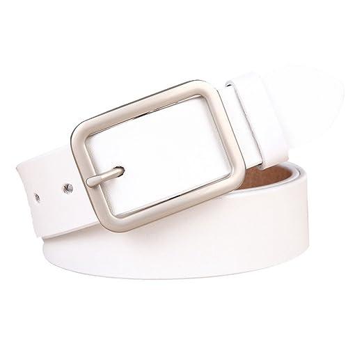 WanYang Mujeres Alta Calidad Cinturones Elastic Con Hebilla Clásico Retro Femenino Cinturón De Cuero