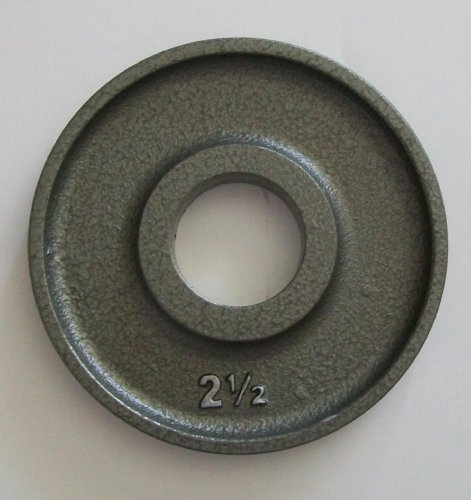 2 1/2 lb. Grey Machined Olympic Plates (Pair)