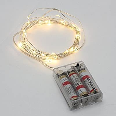 Minger Indoor/ Outdoor Led String Light 10ft 30Leds 3xAA Battery Powered Waterproof Rope Lights for Christmas, Holiday, New Year, Party, Wedding, Patio, Garden, Lawn, Home