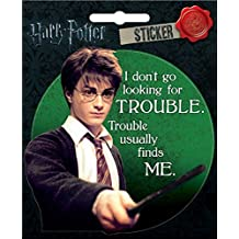 """Ata-Boy Harry Potter """"I Don't Go Looking for Trouble..."""" Sticker"""