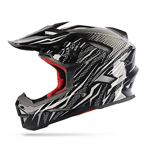 WWUX Cascos Off Road Casco Motocross Cascos Enduro Cross Country ATV Dirt Bike Motos Racing Cascos Protectores,White-XL: Amazon.es: Hogar