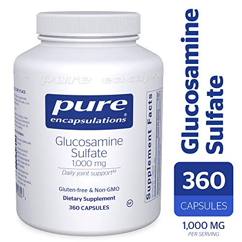 Pure Encapsulations - Glucosamine Sulfate 1000 mg - Dietary Supplement Supports Healthy Cartilage and Joint Function* - 360 Capsules