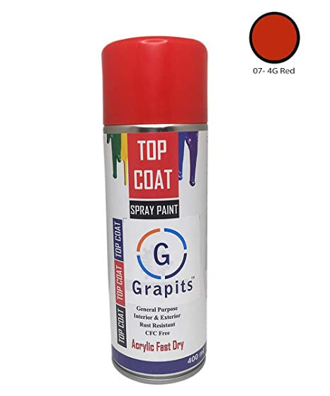 Grapits Color Spray Paint 4g Red Amazon In Car Motorbike