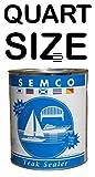 New Semco Teak Wood Clear Tone Finish Sealant Protector Sealer (Quart)