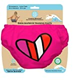 Charlie Banana Training & Swim Cloth Diaper - Red Petit Coeur - Small