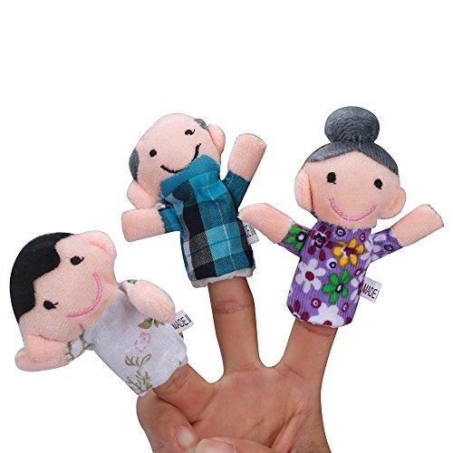 [해외]Salaks US Fast Shipment 6 Pcs Finger Storytelling Toys Christmas Animal Finger Hand Puppet for Baby`s Gift Educational Toys Gift / Salaks US Fast Shipment 6 Pcs Finger Storytelling Toys Christmas Animal Finger Hand Puppet for Baby`...