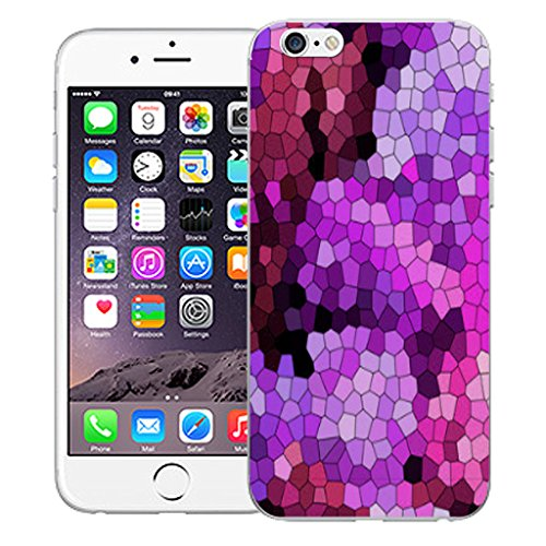 """Mobile Case Mate iPhone 6 4.7"""" Silicone Coque couverture case cover Pare-chocs + STYLET - Purple Mozaic pattern (SILICON)"""