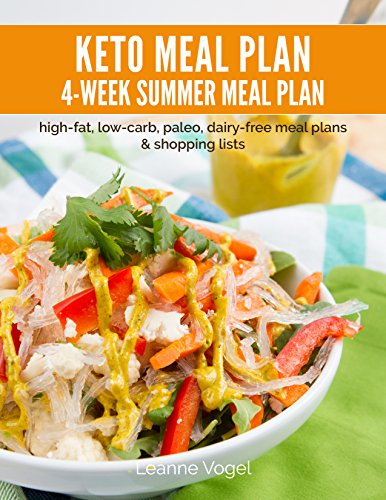 4-Week Keto Summer Meal Plan: high-fat, low-carb, paleo, dairy-free meal plans and shopping lists
