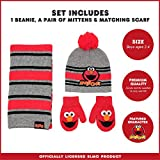 Sesame Street Elmo Scarf, Hat and Mitten Set for