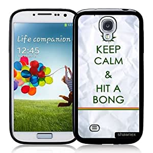 Cool Painting Galaxy S4 Case - S IV Case - Shawnex Keep Calm Hit A Bong Samsung Galaxy i9500 Case Snap On Case