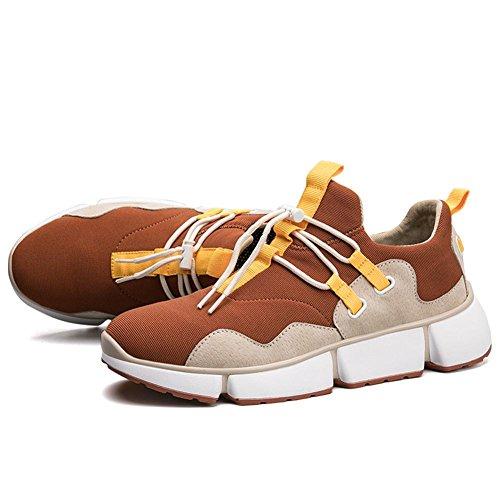 Hombres Choque Absorbente Aire Corriendo Entrenadores Para caminar Trotar Gimnasio Aptitud Entrenador Chico Casual Deportes Zapatos Brown