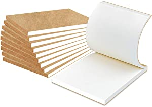 """10 Pack Blank Flipbook for Animation, Sketching, and Cartoon Creation, 4"""" x 5.55'' Animation Flip Book Mini Sketch Pad for Kids, 120 Pages (60 Sheets)"""