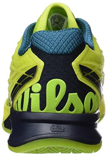 Wilson Wrs323470e135, Scarpe da Tennis Uomo, Verde (Lime Punch / Navy Blazer / Blue Coral), 50 EU